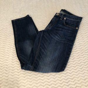 Express Dark Wash Girlfriend Jeans